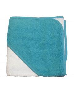 Babycape white/aqua blue