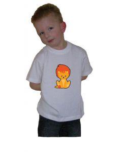 Oranje t-shirt Leeuwtje orange 50
