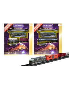 Treinset classic Loc met 2 kleine goederenwagon