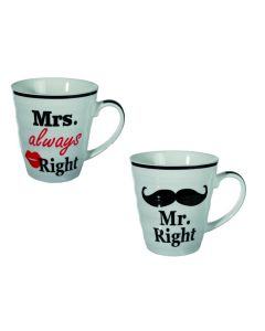 Mr. Right & mrs. Always Right mokken